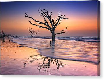Reflections Erased - Botany Bay Canvas Print by Rick Berk
