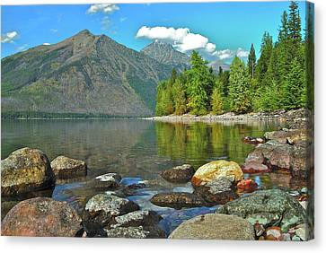 Reflections Glacier National Park  Canvas Print by Michael Peychich