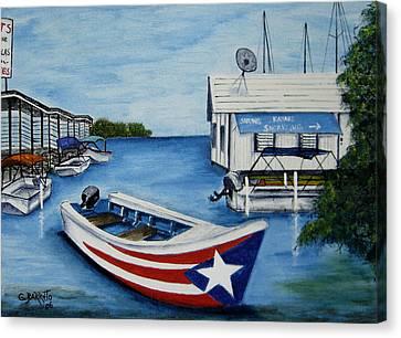 Reflections Canvas Print by Gloria E Barreto-Rodriguez