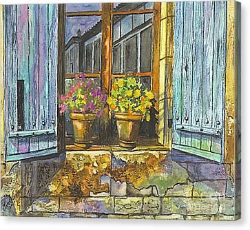 Reflections In A Window Canvas Print by Carol Wisniewski