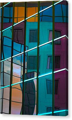 Reflections In Colour Canvas Print by Elisabeth Van Eyken