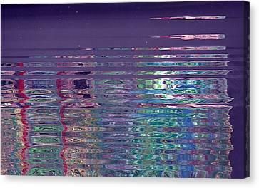 Reflections On A Rainy Morn Canvas Print by Anne-Elizabeth Whiteway