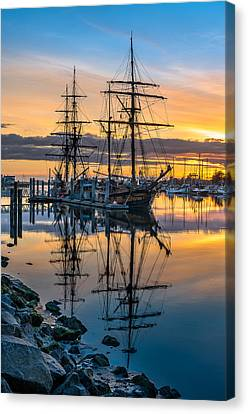 Reflectons On Sailing Ships Canvas Print by Greg Nyquist