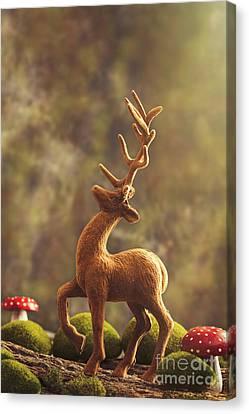 Reindeer Animal Figure Canvas Print by Amanda Elwell