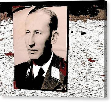 Reinhard Heydrich Lidice Memorial Near Prague Czech Republic Collage 2016 Canvas Print by David Lee Guss