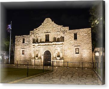 Remembering The Alamo Canvas Print by Stephen Stookey