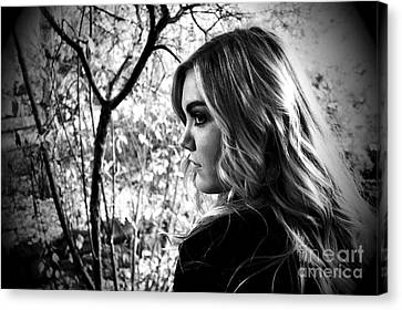Reminiscing In The Park Canvas Print by Krissy Katsimbras