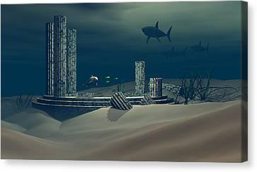 Remnant Of Atlantis Canvas Print by Claude McCoy
