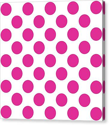 Repeating Circle Pattern - Custom Colors Canvas Print by Mark E Tisdale