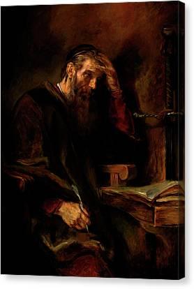 Replica Of Rembrandt's Apostle Paul Canvas Print by Tigran Ghulyan