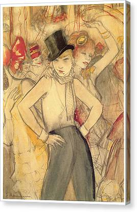 Representing Canvas Print by Jeanne Mammen