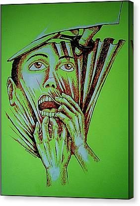 Repression Canvas Print by Paulo Zerbato