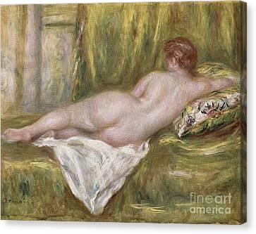Rest After The Bath Canvas Print by Pierre Auguste Renoir