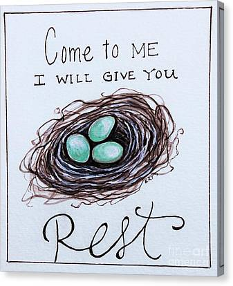 Rest Canvas Print by Elizabeth Robinette Tyndall