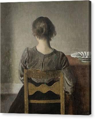 Rest Canvas Print by Wilhelm Hammershoi