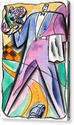 Restaurant Industry Canvas Print by Leon Zernitsky