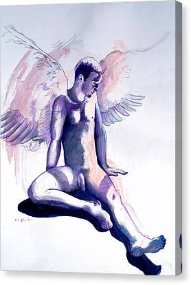 Resting Angel Canvas Print by Rene Capone