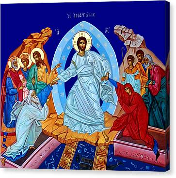 Resurrection In The Bible Canvas Print by Munir Alawi