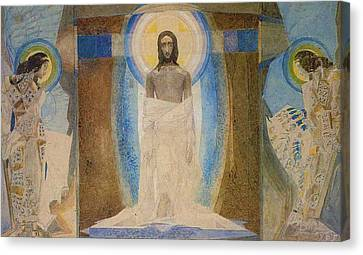 Resurrection Canvas Print by Mikhail Aleksandrovich Vrubel