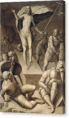 Resurrection Of Christ Canvas Print by Italian School