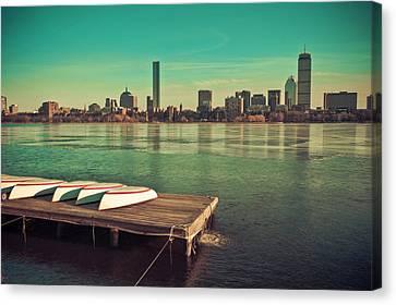 Retro Boston Canvas Print by Andrew Kubica