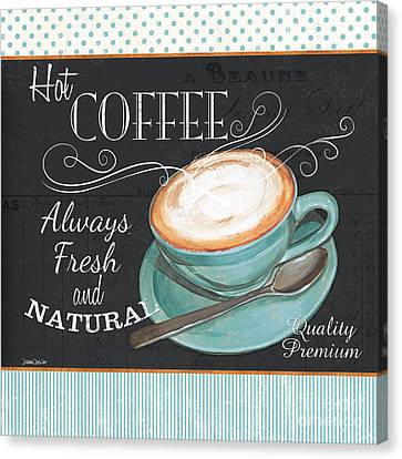 Retro Coffee 1 Canvas Print by Debbie DeWitt
