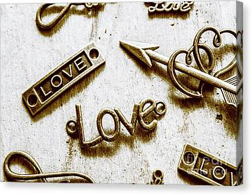 Retro Love Heart Jewels  Canvas Print by Jorgo Photography - Wall Art Gallery