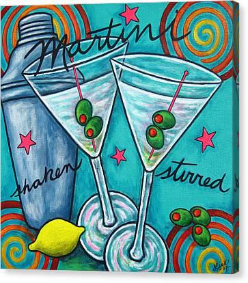 Retro Martini Canvas Print by Lisa  Lorenz