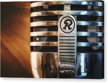 Retro Microphone Canvas Print by Scott Norris