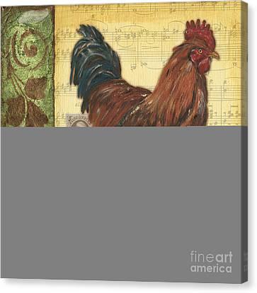 Retro Rooster 2 Canvas Print by Debbie DeWitt