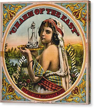 Retro Tobacco Label 1872 Canvas Print by Padre Art