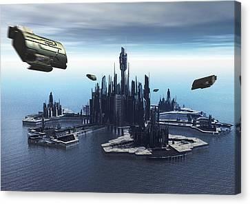 Return To Atlantis Canvas Print by Joseph Soiza