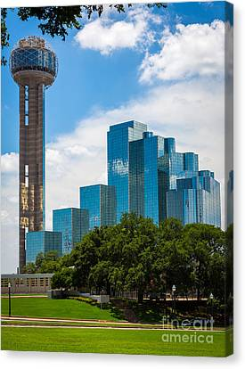 Reunion Tower Canvas Print by Inge Johnsson
