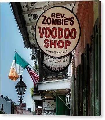 Reverend Zombie's House Of Voodoo Canvas Print by Chrystal Mimbs