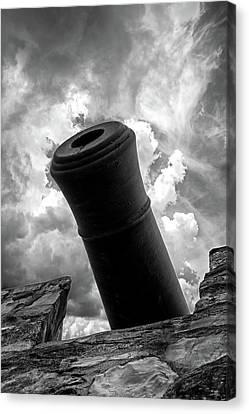 Revolutionary War Cannon Canvas Print by John Haldane