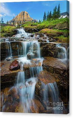 Reynolds Mountain Waterfall Canvas Print by Inge Johnsson