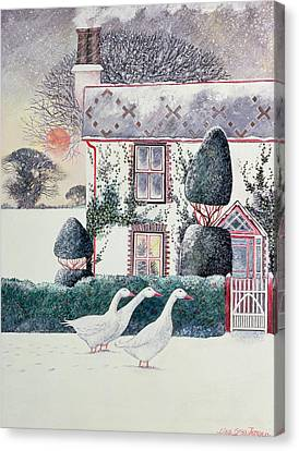 Rg Janek's First Christmas Canvas Print by Lisa Graa Jensen