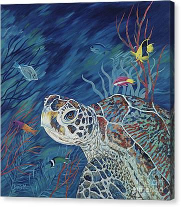 Rhapsody In Blue Canvas Print by Danielle  Perry