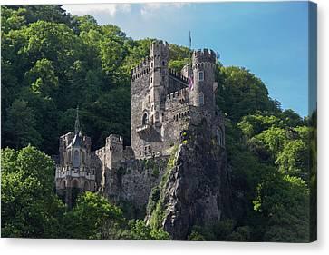 Rheinstein Castle Canvas Print by Teresa Mucha