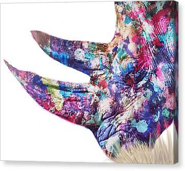 Rhino Canvas Print by Mark Taylor