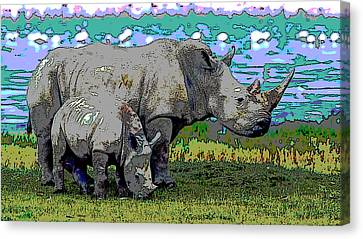 Rhinoceros Canvas Print by Charles Shoup