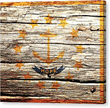 Rhode Island State Flag 1w Canvas Print by Brian Reaves