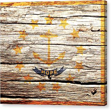 Rhode Island State Flag 3w Canvas Print by Brian Reaves