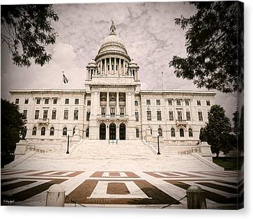 Rhode Island State House Canvas Print by Lourry Legarde