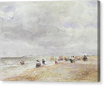 Rhyl Sands Canvas Print by David Cox