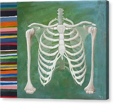 Ribbing  Canvas Print by Sara Young