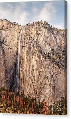 Ribbon Falls At Yosemite National Park - Sierra Nevada Mountains California Canvas Print by Silvio Ligutti