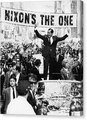 Richard Nixon. Us Presidential Canvas Print by Everett