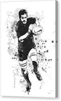 Richie Mccaw Canvas Print by Marlene Watson