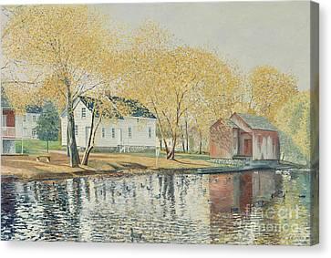 Richmondtown Pond Canvas Print by Anthony Butera